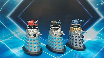 "Doctor Who 3.75""  Daleks Set Of Three Customs"