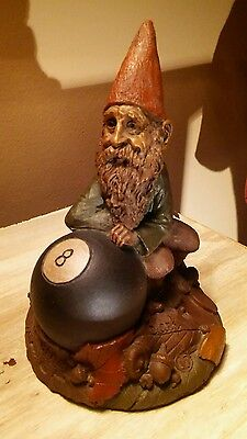 "Tom Clark Gnome ""Trouble"" #19 Sitting Behind 8 ball"