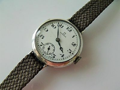 Vintage .925 Silver Cased Omega Trench Watch