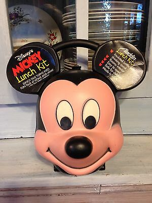 Vintage Disney Mickey Mouse Head Lunch Box