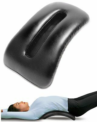 Padded Back Stretcher Faux Leather Shiatsu Massager Pain Relief Lower Back