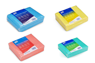 100 Handy Wipes J Cloth Type Disposable Cloths 4 Colours