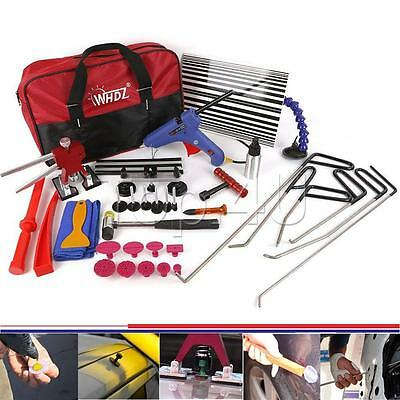 34x PDR Dent Lifter Slide Hammer Puller Paintless Hail Repair Tool Kits with Bag