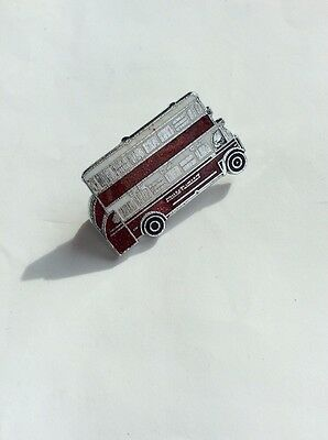 Pin Badge - London Transport - Red And White Double Decker