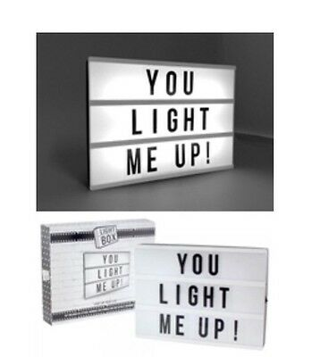 Light Box A4 Cinema Sign Wedding Party Gift 85 Mixed Letter