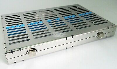 Dental Sterilization Cassette Rack Tray Box For 20 Surgical Instruments 282x182