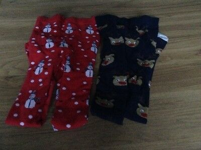 Christmas girls tights Age 9-10 years