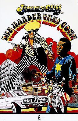 Jimmy Cliff The Harder They Come 1991*original Island Records Poster* Reggae Ska