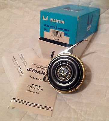 Gold Martin Model 48A Automatic Fly Reel - Mint In Box, Unused New Old Stock,