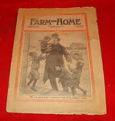 1912 Farm And Home Newspaper Magazine (Sept) Eastern Edt (Vintage Advertising)