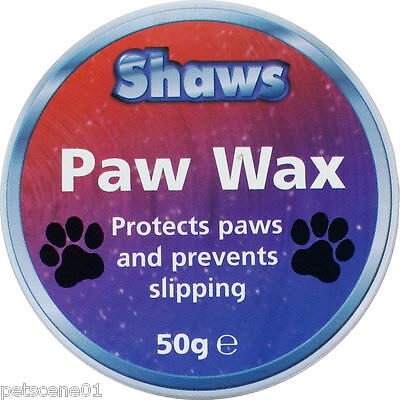Shaws Dog Paw Wax - protects paws and prevents slipping 50g E0337 snow ice grit