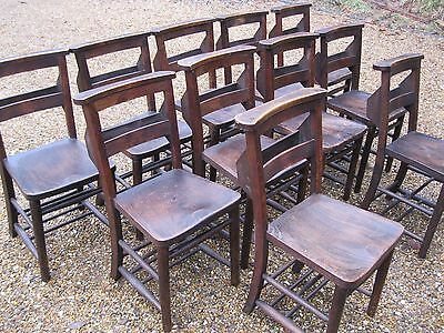 12 OLD CHURCH / CHAPEL CHAIRS. Delivery poss. ALSO PEWS . Can sell fewer or more