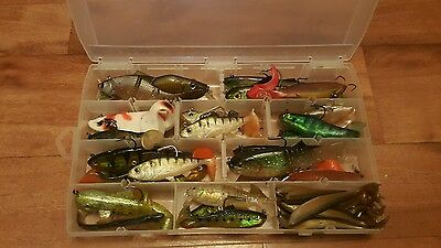 Box full of pike lures