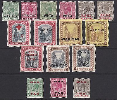 Bahamas, 1918/9 'war Tax' Issues Collection, Mm/mh