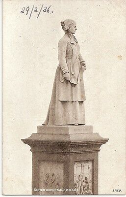 Sister Dora Statue, Walsall - Vintage Postcard, Dainty Series