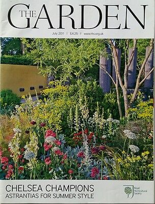 RHS The Garden Magazine July 2011 including Heuchera, Lilies and Astrantia