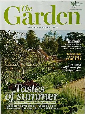 RHS The Garden Magazine March 2013 including Camellias, Coriander,  Nigellas