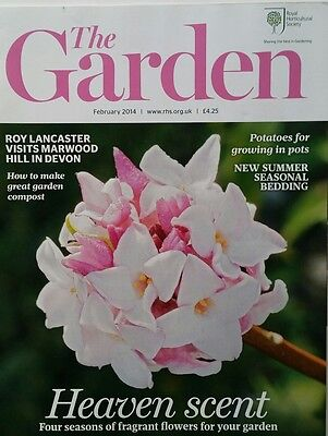 RHS The Garden Magazine February 2014 including Potatoes, Snowdrops and Bedding