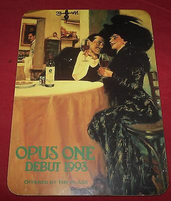 "Opus One (1) Debut 1993 Advertising Card 8 1/4"" x 11 1/4"" Wall Hanging"