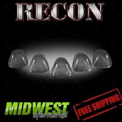 Recon Smoked Cab Roof Light Kit with Amber Xenon Bulbs For 99-12 Ford Super Duty