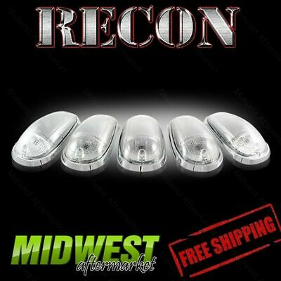 Recon Clear Cab Roof Lights with Amber LEDs Fits 04-12 Dodge Ram 2500 3500