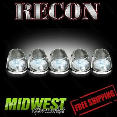 Recon Clear Cab Roof Lights with White LEDs Fits 04-14 Dodge Ram 2500 3500