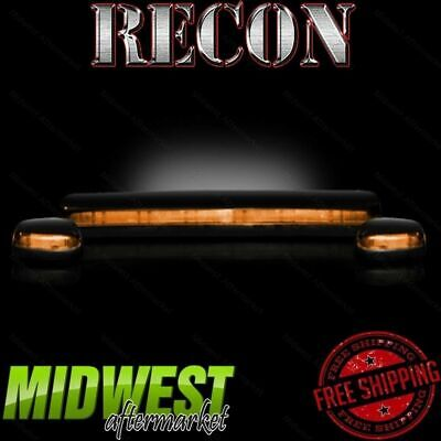 Recon Amber Cab Roof Lights with Amber LEDs Fits 2007-2012 GM Silverado Sierra