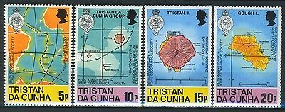 Tristan da Cunha 1980, Maps on stamps set, Sc 283-86  MNH