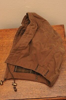 Rare Barbour Wax Hood Regular Sandstone For Beauchamp Dh50