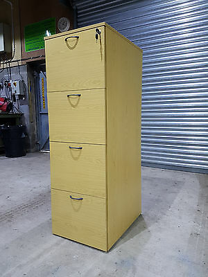 Wooden 4 Drawer Filing Cabinets [Secure Locking Foolscap Filing Cabinet]