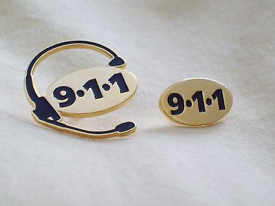 911 Emergency Operator Lapel Pins (Gold Colour)