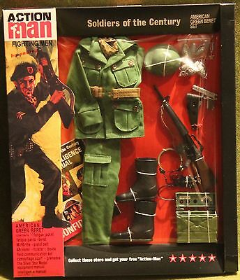 vintage action man 40th anniversary green berret card boxed