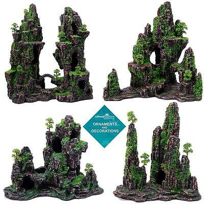 Mountain Ornament - Moss Covered - Aquarium Fish Tank - Decoration / Feature