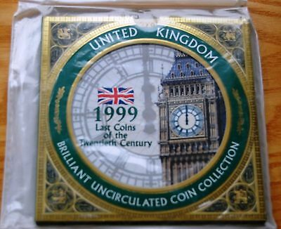 Royal Mint 1999 UK Brilliant Uncirculated 8 Coin Set Collection Sealed Pack #