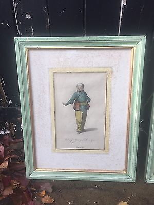 four Antique Turkish Antique Engravings 18th Century