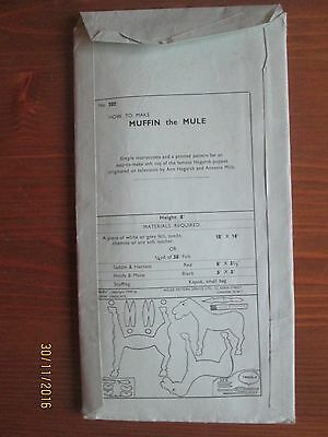Vintage Muffin the mule toy pattern - 1950's