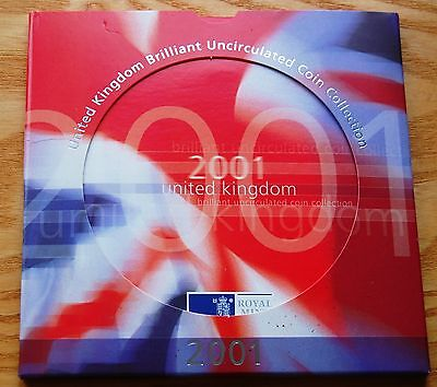 Royal Mint 2001 UK Brilliant Uncirculated Coin Collection 9 Coin Set #