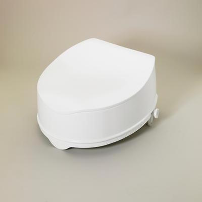 Savanah Raised Toilet Seat with Lid Elevated Toileting Mobility Aid