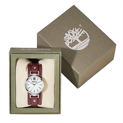 Danah Ladies' Timberland Watch Deep plum Genuine Leather Strap New Boxed ~ Gift