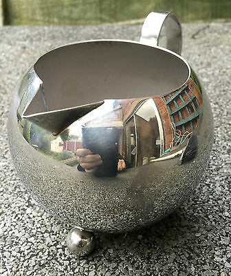Rare Vintage Stainless Steel Milk Jug. Witches Cauldron Shaped Tableware