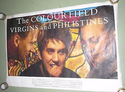 Giant Original Tour Poster 1985  The Colourfield  Virgins and Philistines