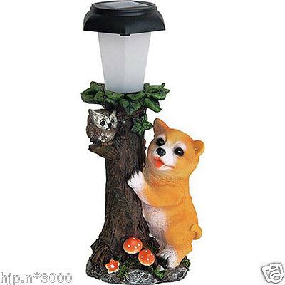 Shiba Inu with Friends Solar light Japanese dog figure Collectible Japan F/S