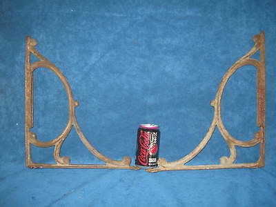 2-Large, Heavy Antique/Vintage Wrought Iron SHELF BRACE SUPPORTS/CORBELS