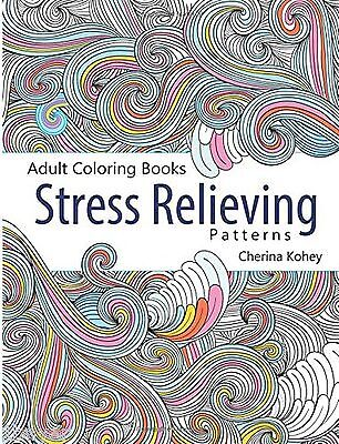 Adult Coloring Book Stress Relieving Pattern Painting Book Art Cherina Kohey