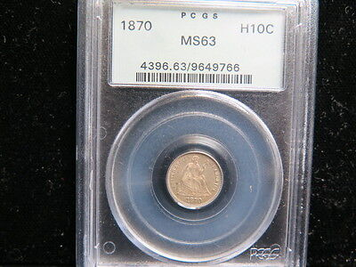 1870 H10C Liberty Seated Half Dime * Choice PCGS MS63 * Nice Eye Appeal * SALE *