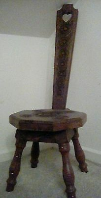 Hand Carved Milking Stool