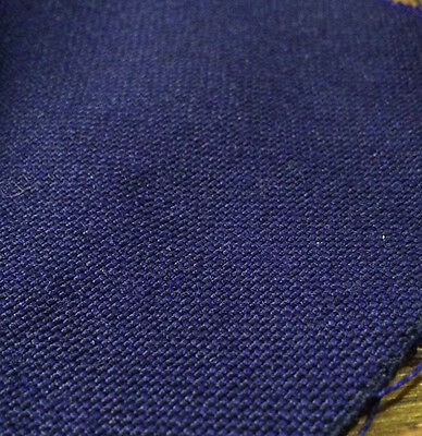 10 Metres Royal Blue 100% Wool Curtain Fabric. Produced in Yorkshire England.