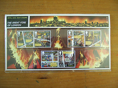 royal mail mint stamps presentation pack - the great fire of london