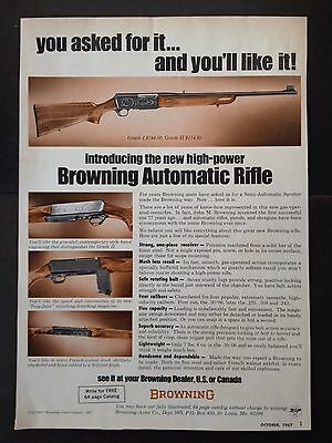 Vintage 1967 Ad (Odl9)~Browning Automatic Rifle. St.louis, Mo.