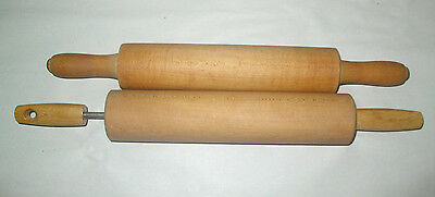 Lot of Two (2) Vintage Wooden Rolling Pins Kitchenware